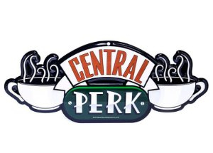 Placa decorativa Central Perk - Friends