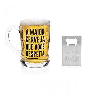 Caneco com Abridor Maior Cerveja