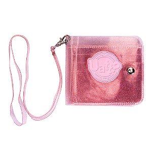Carteira Cristal Glitter - Rosa