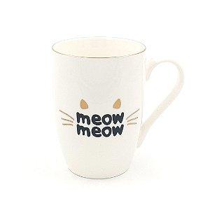 Caneca Porcelana Meow