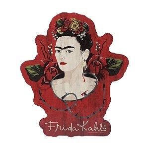 Placa Madeira Frida Kahlo