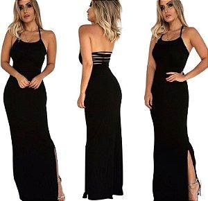 Vestido Preto Tiras