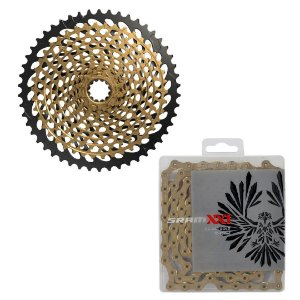 Cassete + Corrente Sram XX1 Eagle Gold