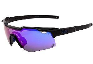 Óculos HB Shield Gloss Black - Multi Purple