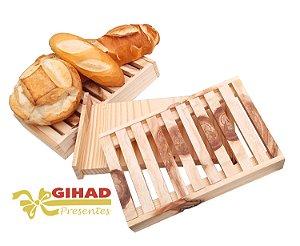 Tabua De Pão Migalheira em madeira Rústica Nova