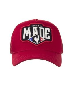 Boné Made In Mato França-vermelho 100% Original Boné Top