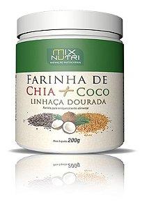 Farinha de Chia + Coco + Linhaça Dourada 200g