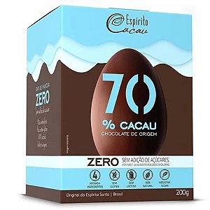 OVO DE CHOCOLATE 70% 200G ZERO - ESPIRITO CACAU