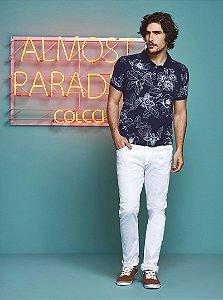 Camisa Polo Colcci Masculina Floral
