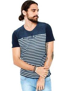 T-shirt Colcci Masculina Azul Be Yourself