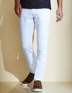 Calça Jeans Acostamento Masculina Off White