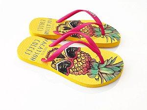Chinelo Colcci Feminino Amarelo Pineapple