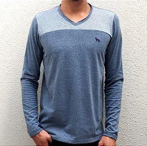 Camiseta Acostamento Manga Longa Ecco Indigo Azul