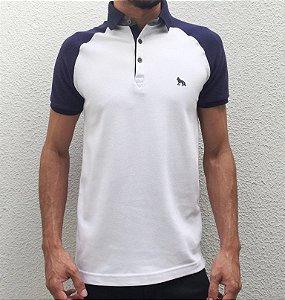 Camisa Polo Acostamento Raglan Piquet Confort Branco