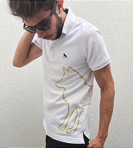 Camisa Polo Acostamento Lobo Dourado