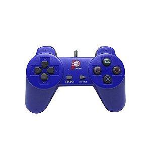 Controle Paralelo Dualshock 1 Azul com fio - PS1