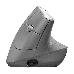 Mouse Ergonômico Logitech MX Vertical Preto USB e Bluetooth 4000 DPI sem fio
