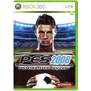 Jogo Pro Evolution Soccer 2008 (PES 08) - Xbox 360