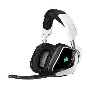 Headset Gamer Corsair Void RGB Elite Wireless White sem fio - PC e PS4