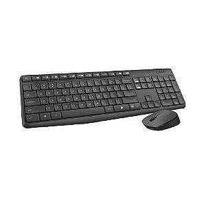Kit Teclado e Mouse Logitech MK235 sem fio - PC