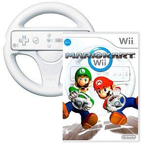 Jogo Mario Kart Wii + Volante - Wii