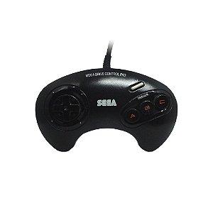 Controle Mega Drive 3 Preto - Sega