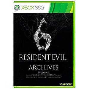 Jogo Resident Evil 6 Archives - Xbox 360