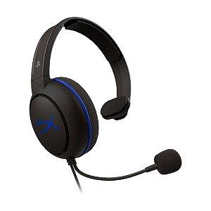 Headset Gamer HyperX Cloud Chat HX-HSCCHS-BK/AM Preto e Azul com fio - PS4