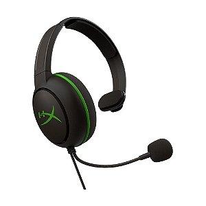 Headset Gamer HyperX CloudX Chat HX-HSCCHX-BK/WW Preto e Verde com fio - Xbox One