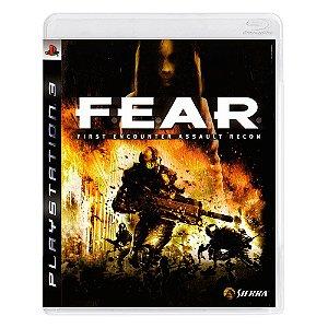 Jogo F.E.A.R First Encounter Assault Recon - PS3