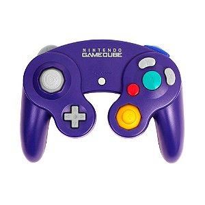 Controle Roxo Nintendo com fio - GameCube