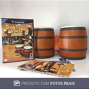 Jogo Donkey Konga + DK Bongos - Gamecube