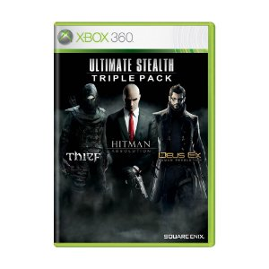 Pacote Ultimate Stealth Triple: Thief + Hitman Absolution + Deus Ex: Human Revolution - Xbox 360