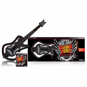 Kit Guitar Hero: Warriors of Rock + Guitarra (Sem Receiver) - PS3