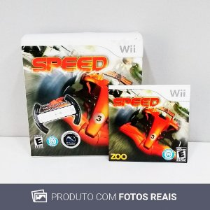 Jogo Speed + Volante - Wii
