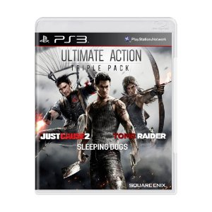 Pacote Ultimate Action Triple Pack: Just Cause 2 + Sleeping Dogs + Tomb Raider - PS3