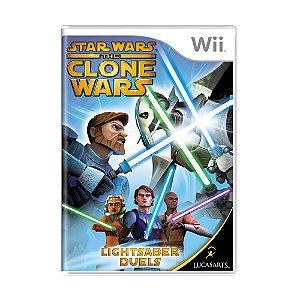 Jogo Star Wars The Clone Wars: Lightsaber Duels - Wii