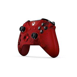Controle Microsoft sem fio (Gears of War 4 Crimson Omen Edição Limitada) - Xbox One S