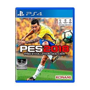 Jogo Pro Evolution Soccer 2018 (PES 18) - PS4