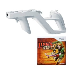 Wii Zapper + Jogo Link's Crossbow Training - Wii