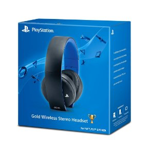 Headset Sony Gold Stereo sem fio - PS3, PS4 e PS Vita
