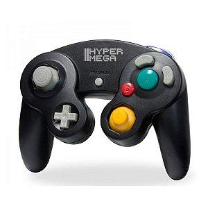 Controle Hyper Mega Preto - GameCube e Wii