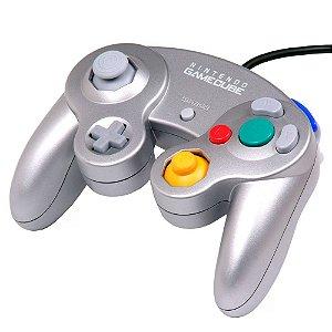 Controle Prata Nintendo com fio - GameCube