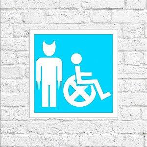 Placa de Parede Decorativa: Cadeira X