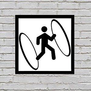 Placa de Parede Decorativa: Portal