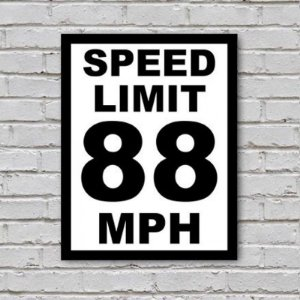 Placa de Parede Decorativa: Speed Limit