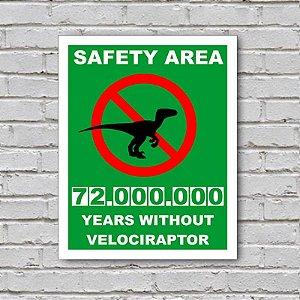 Placa de Parede Decorativa: Velociraptor