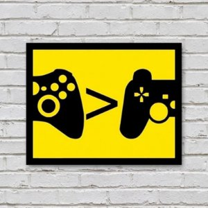 Placa de Parede Decorativa: Xbox > PlayStation
