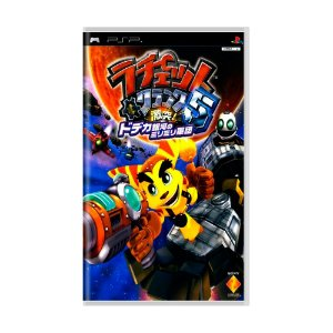 Jogo Ratchet & Clank 5: Gekitotsu! Dodeka Ginga no MiriMiri Gundan - PSP