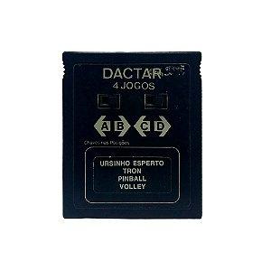 Jogo Dactar 4 em 1 (Ursinho Esperto, Tron, Pinball e Volley) - Atari